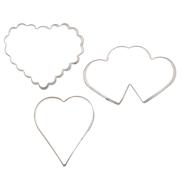 Cookie Cutter Hearts - set of 3 pcs.