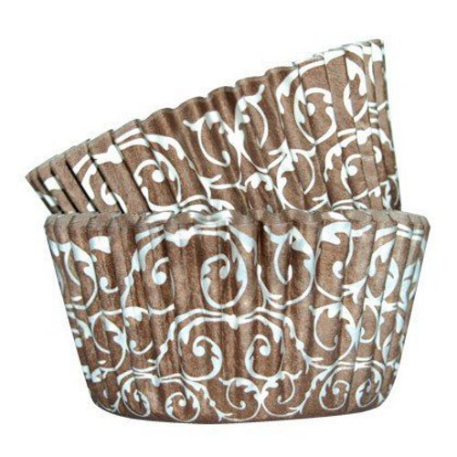 Cupcake Cases brown baroque 36 pcs. per pack