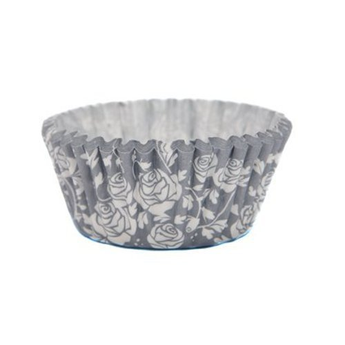 Cupcake Cases grey roses 36 pcs. per pack