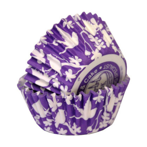 Cupcake Cases purple birds 36 pcs. per pack